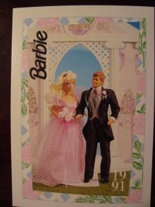 1991 WEDDING DAY MIDGE & BARBIE #279,1991 Mattel Trade** CARD**