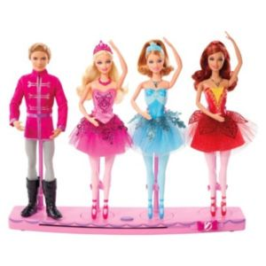2013 Barbie in the Pink Shoes Christmas Holiday Target Exclusive 4 Doll Set flyer