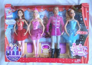 2013 Barbie in the Pink Shoes Christmas Holiday Target Exclusive 4 Doll Set