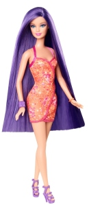 BARBIE® BLACK-PURPLE LONG HAIR