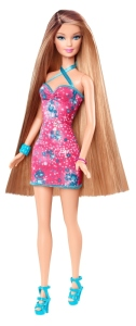 BARBIE® BRUNETTE-BLONDE LONG HAIR DOLL 2