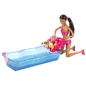 BARBIE® SWIM & RACE PUPS™!AA