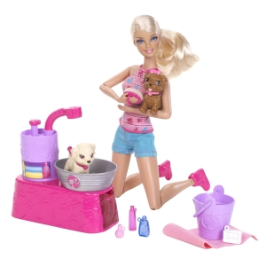 BARBIE® SUDS & HUGS PUPS™ Set Item #: W3153