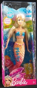 Barbie Color Change Mermaid Doll In Orange