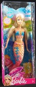 Barbie Color Change Mermaid Doll In Orange
