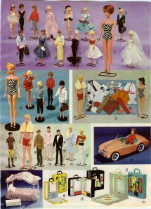 1963 AD 2 Page Barbie Ken Dolls Outfits Sports Car Carry Case Swim Suit Wedding
