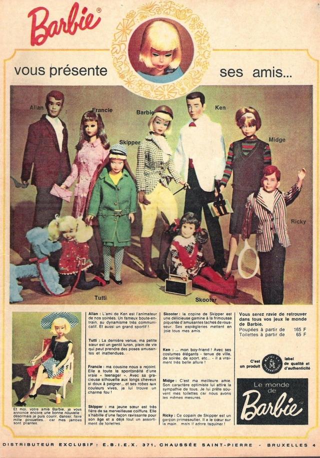 1966 magazine de l'année 1966 Barbie family and Friends - France