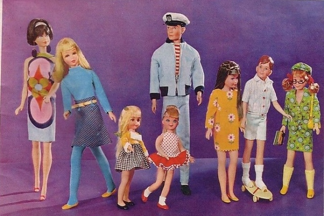 1967 Fashion Barbie, Family and Friends -- from AD Mattel France