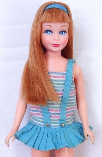 1968 Redhead Titian Hair Twist N Turn TnT Skipper Doll