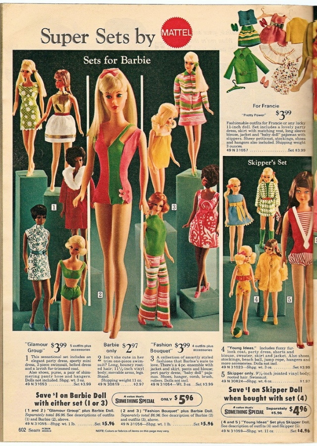 1970 Barbie, Family and Friends AD - Sears catalogus