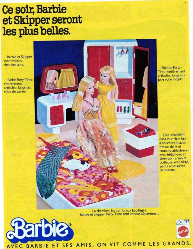 1977 Partime Barbie and Skipper - AD France