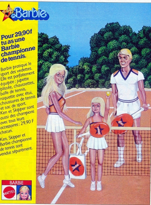 1980 Sport Star Barbie, Ken and Skipper - Ad France