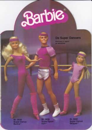 1983 Barbie, Ken en Skipper de Super Dancers. Partners in sport en aerobics - Netherlands