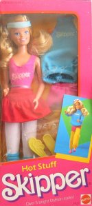 1984 Hot Stuff SKIPPER Doll w Over 5 Bright Fashion Looks!