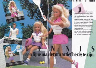 1987 Barbie Journaal 1 - Tennis Barbie, Ken en Skipper - Netherlands