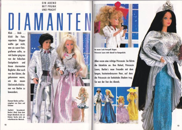 1987 Barbie Journaal - Diamanten - Germany