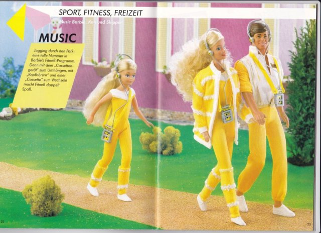 1987 Barbie Journaal - Music Barbie, Ken und Skipper - Germany