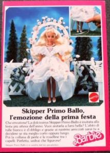 1987 - SKIPPER PRIMO BALLO - Ad Mattel Italy