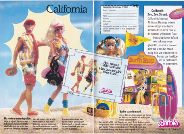 1988 Barbie Journaal - California - Netherlands