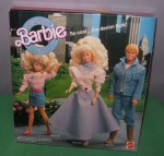 1989 #4893 BARBIE COOL CITY BLUES with KEN & SKIPPER - back