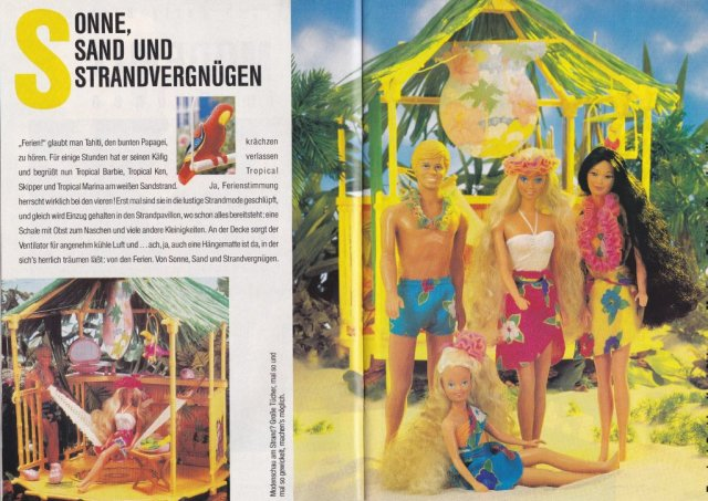 1989 Barbie Journaal - Tropical - Germany