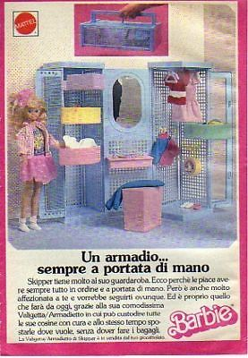 1989 Barbie Mattel ValigettaArmadio Skipper
