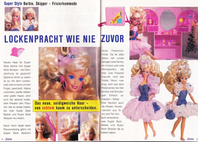 1989 Frühjahr - Sommer Journaal - Super Style Barbie & Skipper - Germany
