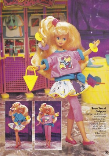 1990-91 Barbie Journaal - Teen Trend Skipper - Germany