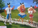 1991 Barbie & Friends Gift Set Dressin' Up with Mickey, Minnie & Donald! - Toys R Us Special Limited Edition w Skipper, Barbie & Ken Dolls back