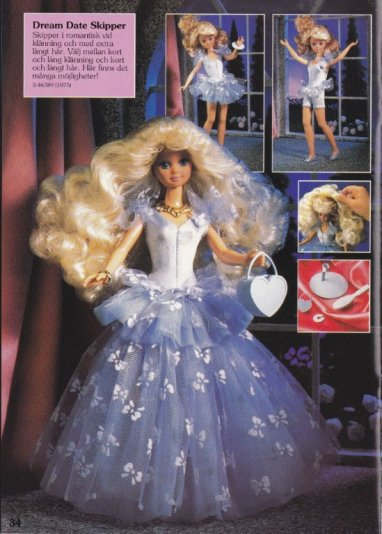 1991 Barbie Journaal 1990-91 - Dream Date Skipper - Germany