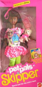 1991 Barbie Pet Pals Skipper Doll AA w Puppy & Accessories
