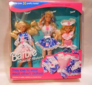 1992 Sharin' Sisters by Barbie, Skipper, Barbie and Stacie 3 dolls