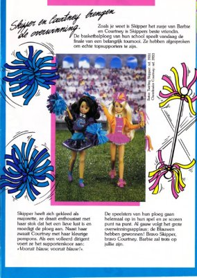 1993 Barbie Club News - Baton Twirtling Skipper en Cheerleader Courntney - Netnerlands