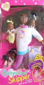 1994 Babysitter Skipper Doll AA w 3 Babies