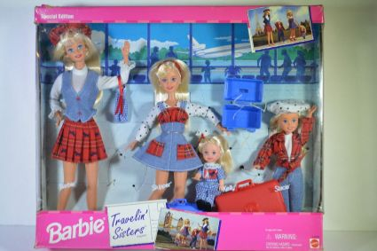 1995 Barbie Travelin' Sisters Playset Gift Set 1995 Stacie Kelly Skipper - USA issue