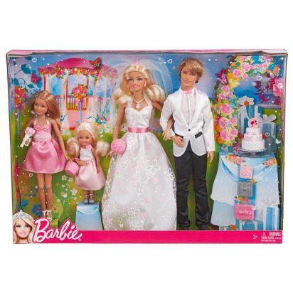 2000 BARBIE Doll & Ken SKIPPER & Kelly ~ WEDDING Day SET I Can Be BRIDE & GOOM