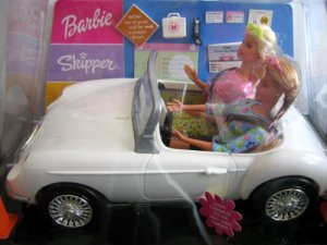 2000 Barbie & Skipper Doll Let's Drive! Student Driver Gift Set T'R'U Exclusive
