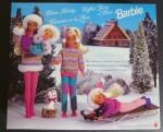 2001 #15645 Winter Holiday BARBIE Skipper Kelly Stacie Koko - back