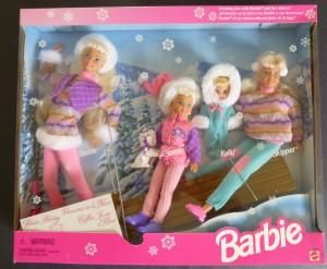 2001 #15645 Winter Holiday BARBIE Skipper Kelly Stacie Koko