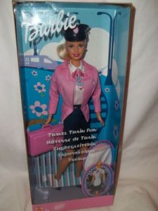 2001 Travel Train Fun Barbie # 55807. Foreign Language Labeling