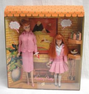 2007 # K7967 Knitting Pretty Barbie & Skipper Dolls - Repro Gift Set Gold Label