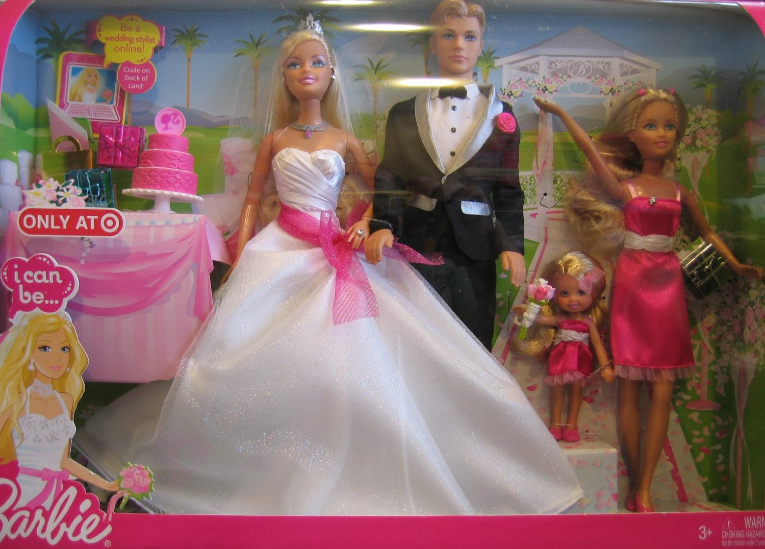 Wedding Gift Set Barbie : 2009 Barbie I Can Be Wedding Gift Set w Barbie, Ken, Skipper & Kelly ...
