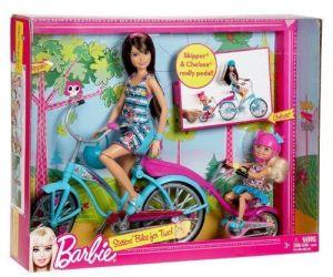 2011 Barbie Sisters Tandem Bike Playset NRFB