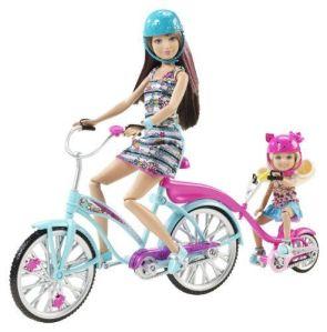 2011 Barbie Sisters Tandem Bike Playset