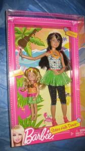 2011 #X3215 Barbie Sisters Hula Dance Skipper and Chelsea