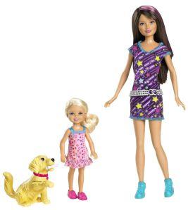 2012 #W3286 Barbie Sisters Train Taffy Skipper and Chelsea Doll