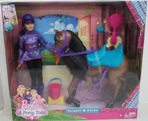 2013 Barbie & Her Sisters A Pony Tale Skipper & Horse Set