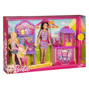 2013 #X9059 BARBIE® SISTERS' POPCORN & SOUVENIRS™! Play Set - NRFB