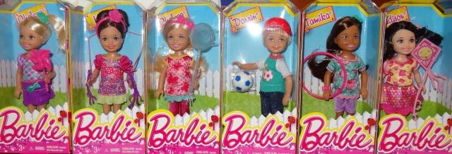 2014 BARBIE CHELSEA AND FRIENDS SUMMER FUN SET OF 6