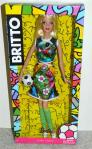 2014 Barbie Collector Soccer Romero Britto Model Muse Barbie Doll
